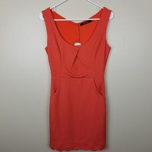Ark & Co orange dress with polka dots size S